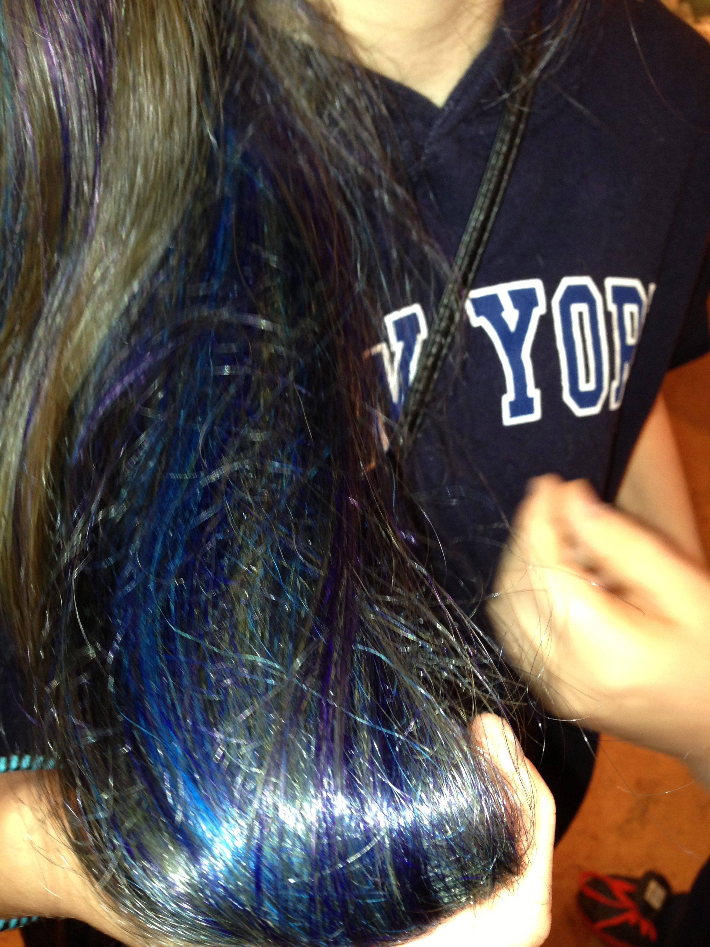 My Daughter Has Blue Hair Thanks To Protein 21 Shampoo Jamie