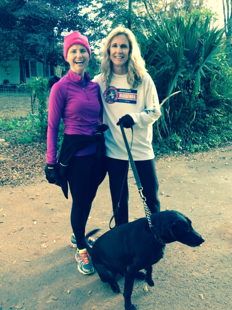 Me and my bestest running buds. Kimmie and Tebow.