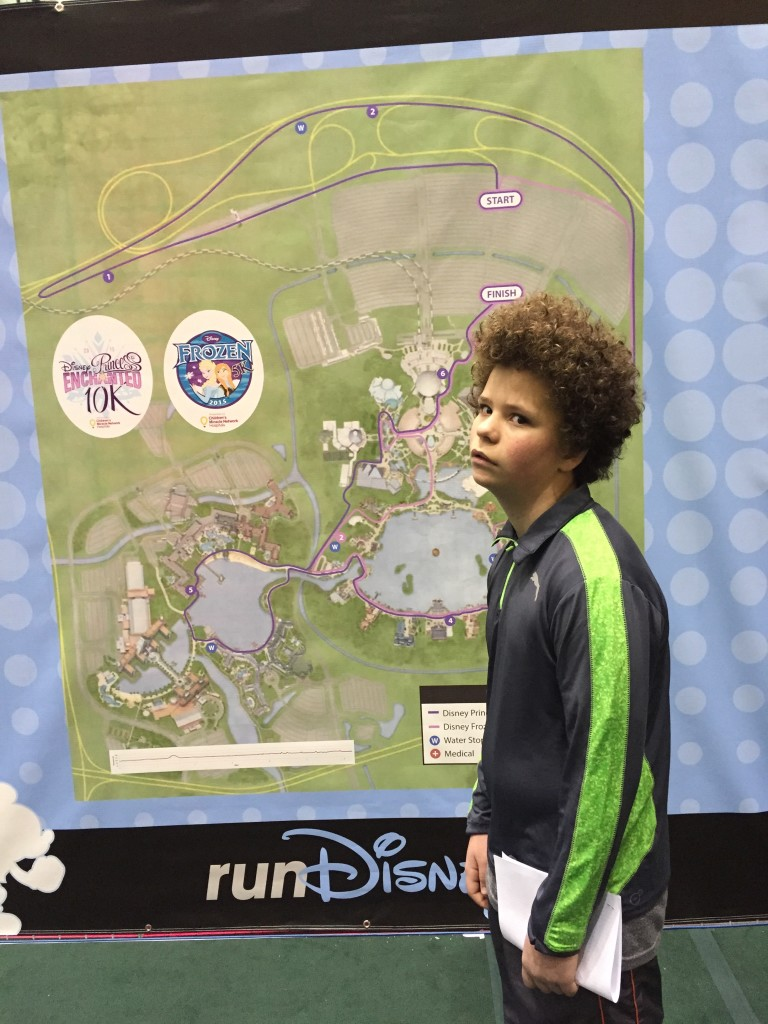 Joe got a look at the race course.