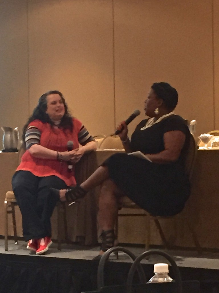 BlogHer's Alicia Camahort chatting with equally inspiring Danyelle Little @TheCubicleChick